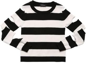 MonnaLisa Striped Wool Blend Knit Sweater