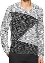 Calvin Klein Men's Cotton Boucle Parall Sweater