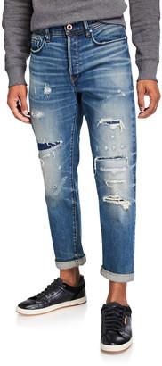 G Star Men's Moddan Type C Rip/Repair Selvedge Jeans