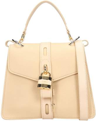 Chloé Aby Shoulder Bag In Beige Leather