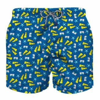 MC2 Saint Barth Snorkeling Time All Over Print Boys Light Swim Trunks