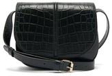 A.P.C. Betty Crocodile-effect Leather Bag - Womens - Dark Green