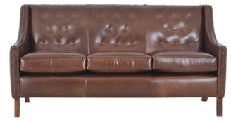 Brompton Westland And Birch Woburn Leather Sofa Westland and Birch Upholstery Brown