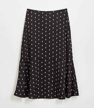 LOFT Petite Crane Fluted Midi Skirt