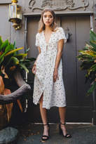 Everly Polka-Dot Midi Dress