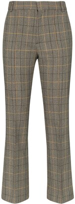 Plan C Check Cropped Trousers