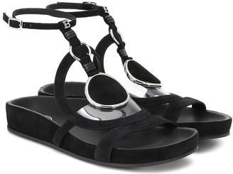 Balmain Prana embellished suede sandals