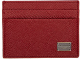 Dolce & Gabbana Red Classic Logo Card Holder