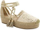 Nanette Lepore Nanette by Bitsy Crochet Flatform Espadrilles Women's Shoes