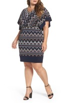 Sangria Plus Size Women's Puff Print Blouson Dress