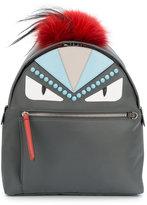Fendi large Monster leather applique backpack