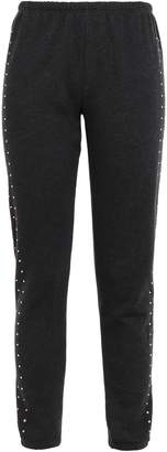 Wildfox Couture Crystal-embellished Cotton-blend Track Pants