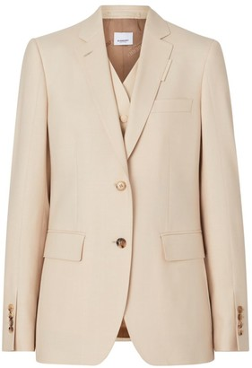 Burberry Mohair & Silk-Blend Integral Vest Jacket