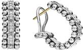 Lagos Women's Caviar Spark Diamond Oval Hoop Earrings
