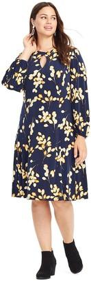 Plus Size East Adeline by Dia&Co Keyhole Dress