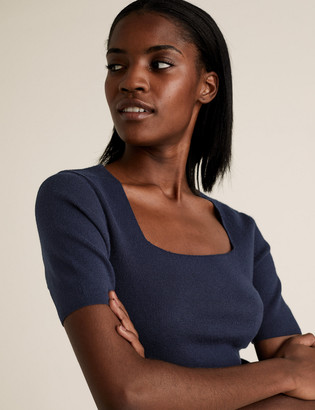 Marks and Spencer Soft Touch Fitted Knitted Top