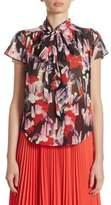 Marc Jacobs Floral-Print Silk Blouse