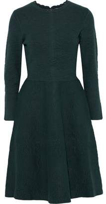 Lela Rose Flared Stretch-cloque Dress