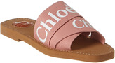 Chloé Woody Logo Ribbon Canvas Slide