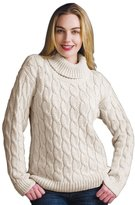 Pure Handknit Cable Turtleneck