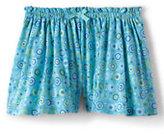 Classic Girls Plus Pattern Knit Culotte Shorts-Black Lightning Print