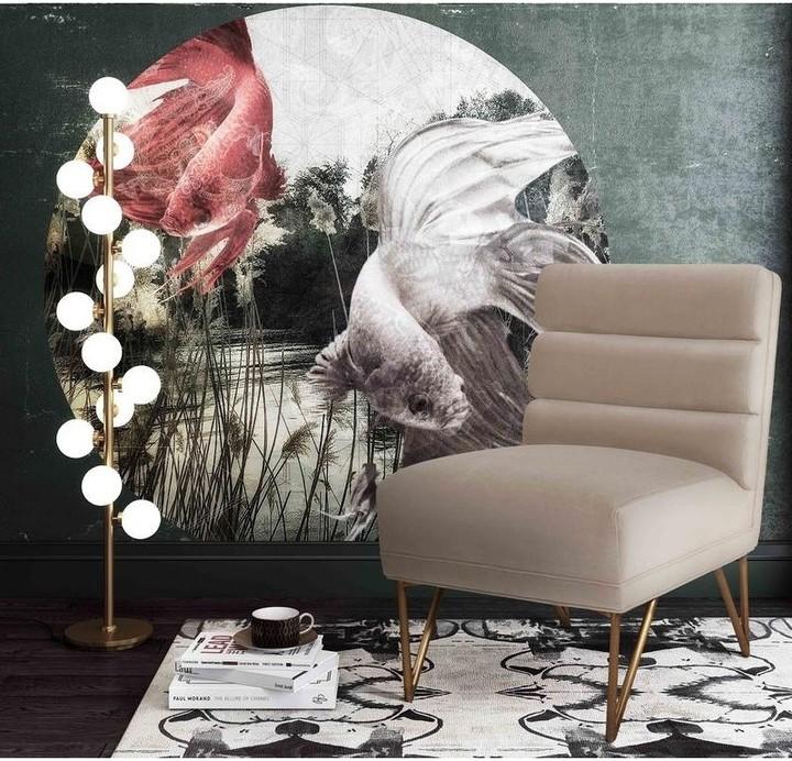 Thumbnail for your product : TOV Furniture Kelly Cream Velvet Chair