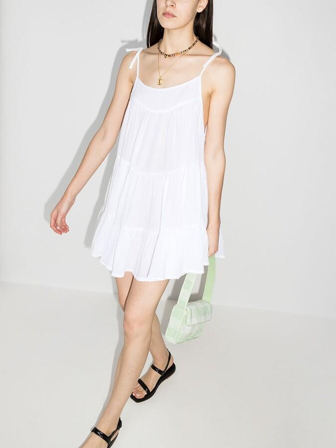 Thumbnail for your product : HONORINE White Peri Tiered Cotton Mini Dress
