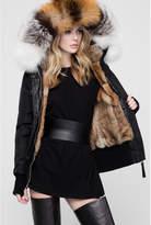 Nicole Benisti I Am Fordham Intarsia Fur Lined Bomber Jacket