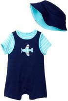 Offspring Plane Tee, Shortall, & Hat Set (Baby Boys)