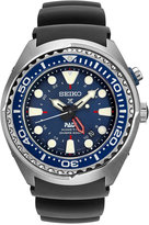 Seiko Men's Prospex Kinetic GMT Diver Black Silicone Strap Watch 48mm SUN065