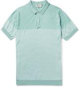 John Smedley - Kiefer Striped Cotton Polo Shirt