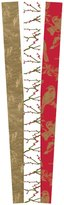 The Gift Wrap Company Gilded Birds and Branches Premium Gift Wrap Paper - Red/Gold/White - 3ct ct