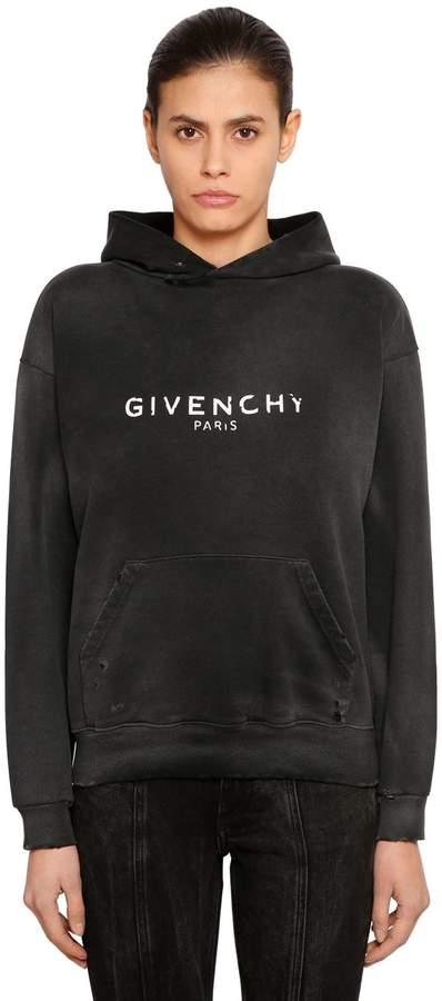 Givenchy Vintage Logo Jersey Sweatshirt Hoodie