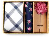 Original Penguin Merrick Grid Tie, Pocket Square, & Lapel Pin Box Set
