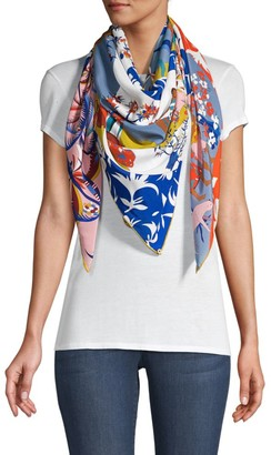 Rumisu Art Therapy Synthesia Large Square Silk Scarf