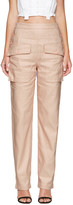 Chloé Pink Cargo Pockets Trousers