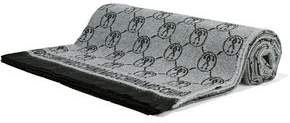 Moschino Fringed Wool-jacquard Scarf