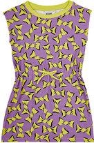 Moschino Cheap & Chic BOW-PRINT JERSEY DROP-WAIST DRESS