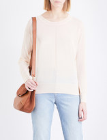 Sandro Cutout fine-knit cotton-blend jumper