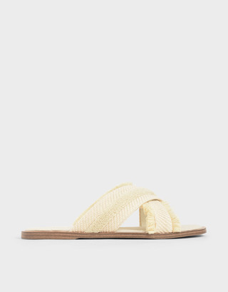 Charles & Keith Woven Slide Sandals