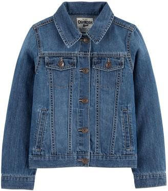 Osh Kosh Girls 4-14 Knit Denim Jacket