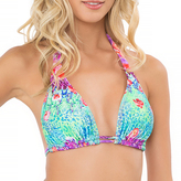 Luli Fama D/DD Cup Triangle Halter In Multicolor (L488073)