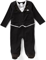 Edgehill Collection Baby Boys Newborn-6 Months Tuxedo Footed Coverall