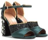 Marni Glitter and satin sandals