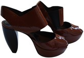 Marni Brown Patent leather Sandals