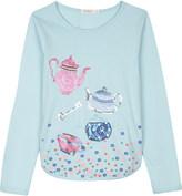 Billieblush Billie Blush Sequinned teapot design cotton long-sleeved top 4-12 years