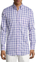 Bobby Jones Long-Sleeve Plaid Cotton Shirt, Purple