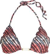 Vix Ripple printed bikini top