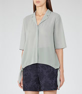 Reiss Panther Side-Tie Blouse