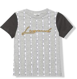 M&Co Legend slogan stripe t-shirt (3-12yrs)